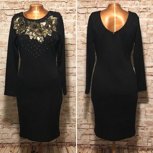 Vintage Sequin Sheath Dress
